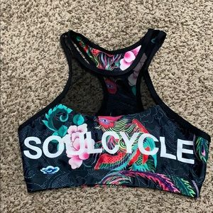High Neck Mesh SoulCycle Bra